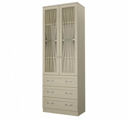 Шкаф со стеклом 2х дверный Дженни СТЛ.127.18