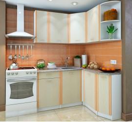Кухонный гарнитур Бланка СТЛ.122.00 правый Дуб молочный