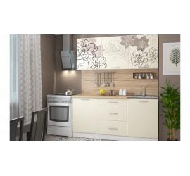 Кухонный гарнитур Бордо-ваниль 2 м