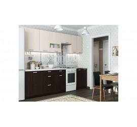 Кухонный гарнитур Розалия 2100 Дуб Млечный-Дуб Венге