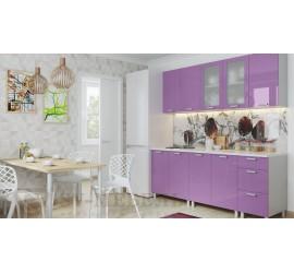 Кухонный гарнитур Модерн Фиолетовый металлик