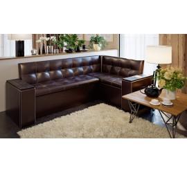 Скамья угловая со спальным местом Остин коричневый