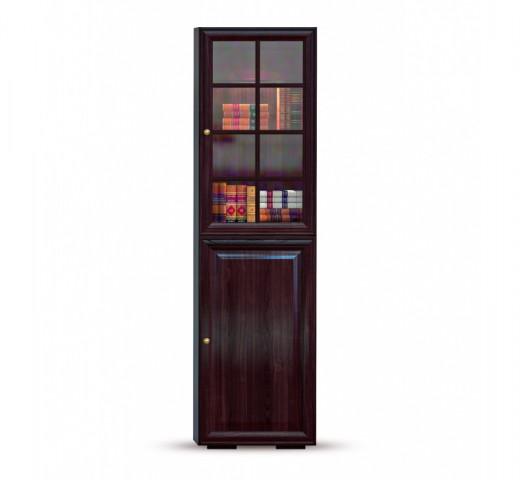 Стеллаж Гавана шоколад СВ-315 двери СВ-316в и СВ-316г