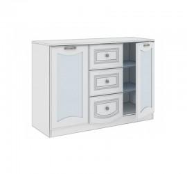 Комод со стеклянными дверцами №55 (Мальвина Люкс)