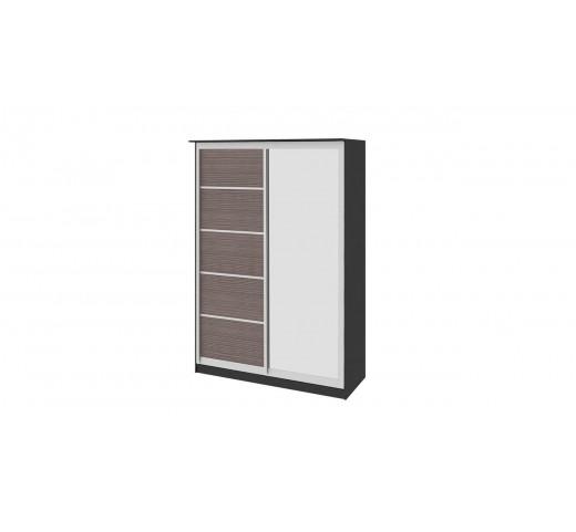 Зеркальный шкаф-купе Стэн СМ-140.02.002 Венге-Каналы Дуба