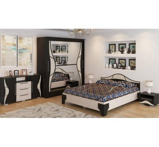 Спальня Лагуна 5 Дуб Венге-Дуб Млечный